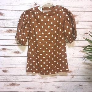 NWT Zara Girls Brown Dress size 8